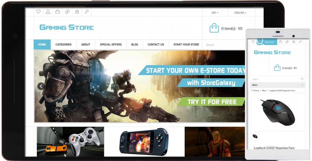 gaming store template