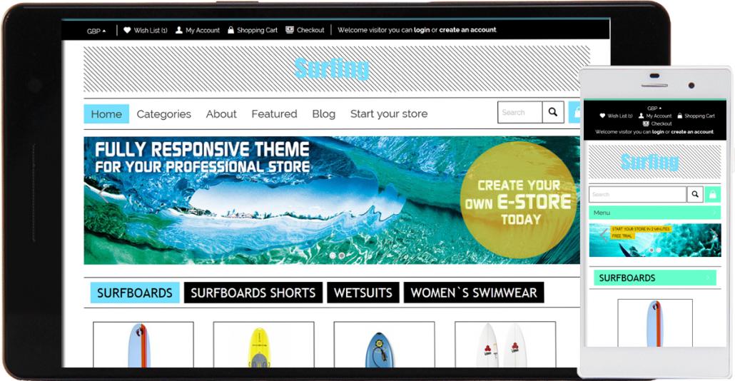 Surfing store